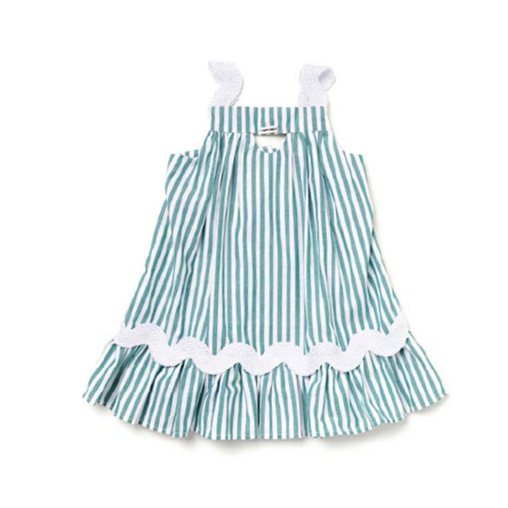 Vestido Camu Camu Bebê Listrado Verde 8431