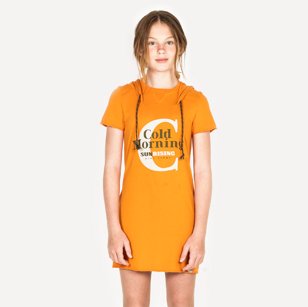 Vestido Dimy Candy Laranja Sunset 82431