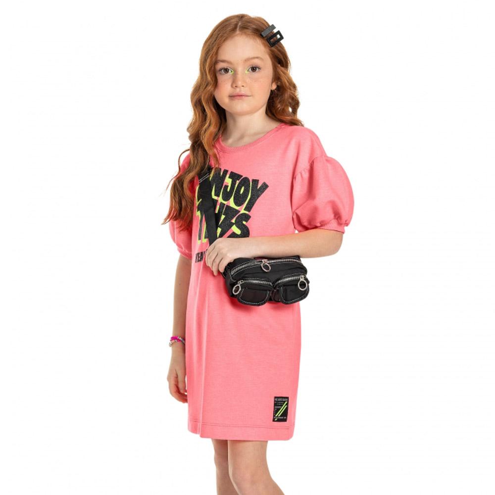 Vestido Gloss em Moletom Enjoy This Rosa 31253rs