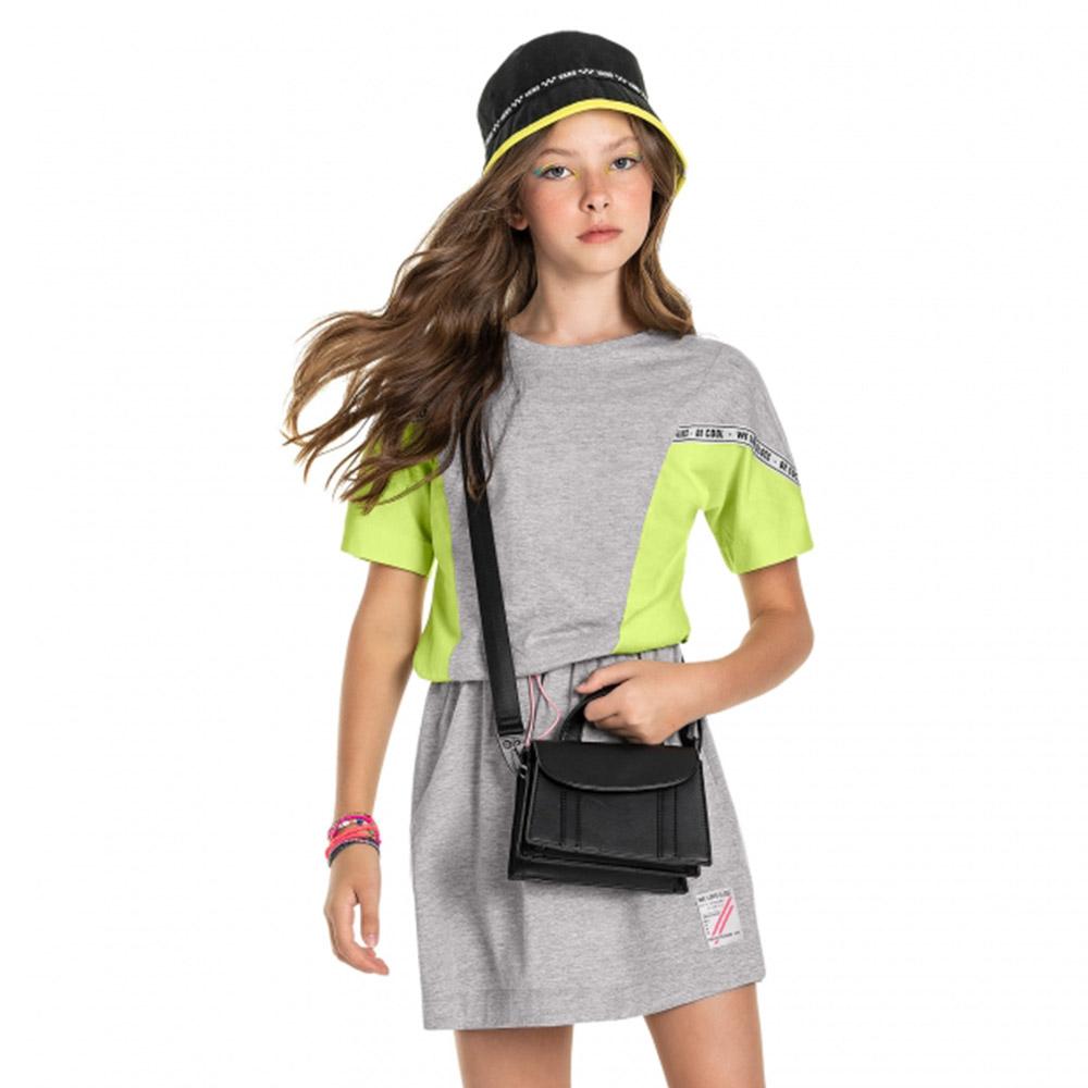 Vestido Gloss Moletom Cinza 31270