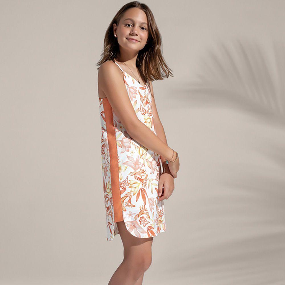 Vestido Menina Acostamento Floral Aquarela 83812026