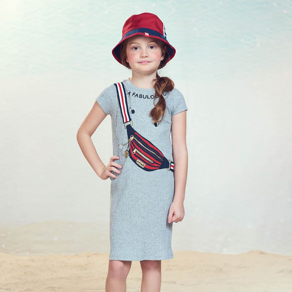 Vestido Menina Animê Canelado Pochete N0160