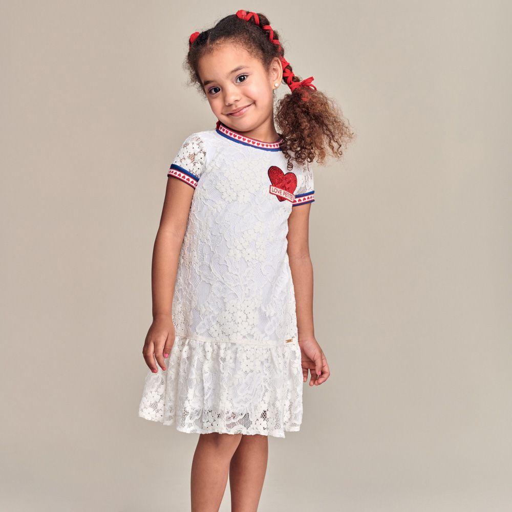 Vestido Menina Animê Renda com Coração P3477