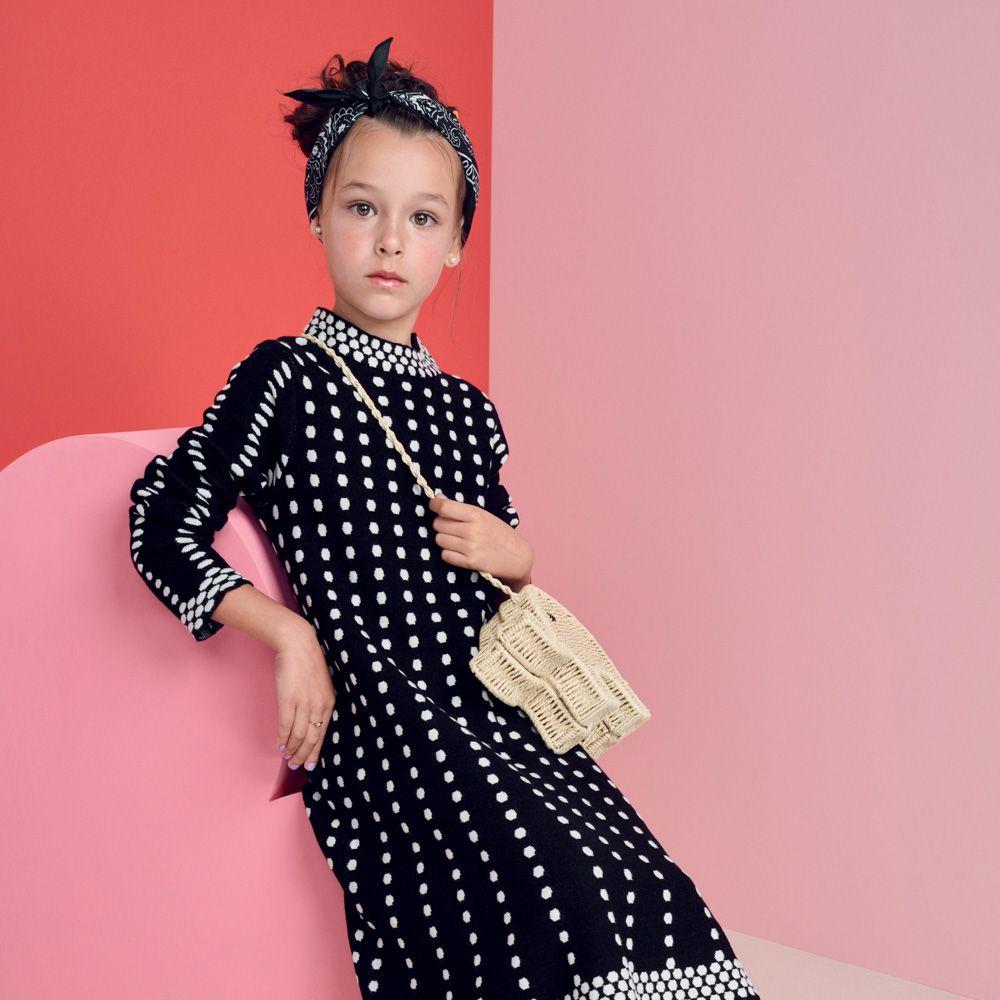 Vestido Menina Animê Tricot Evasê N0105