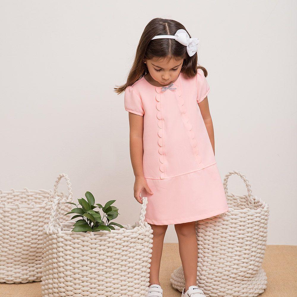 Vestido Menina Beabá Rosa Claro 778022