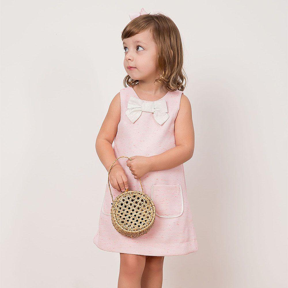 Vestido Menina Beabá Rosa Claro Tweed 778055