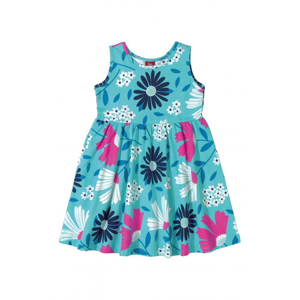 Vestido Menina Bee Loop Floral Azul Claro 13568