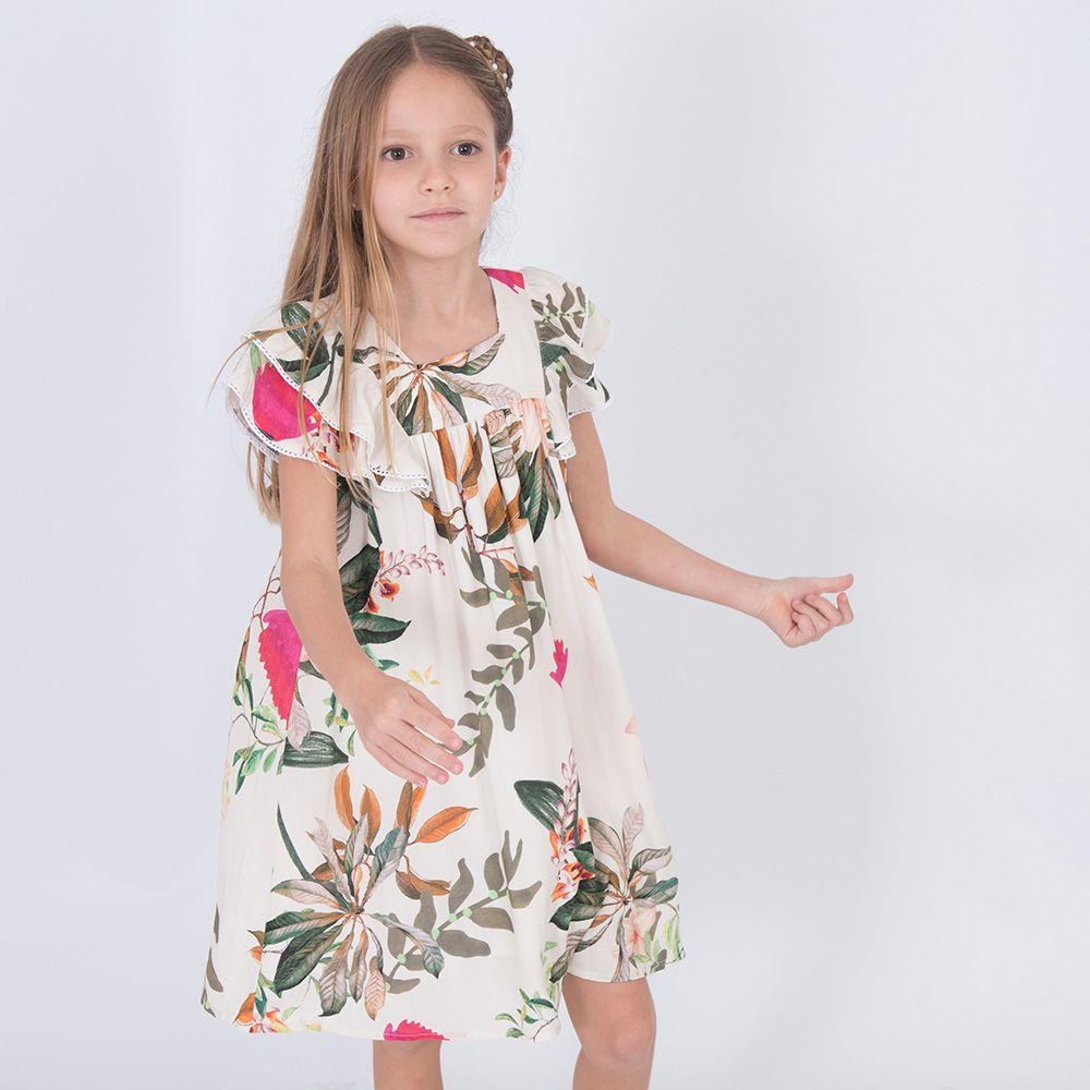 Vestido Menina Bella Flor O Cravo e a Rosa Bf240D