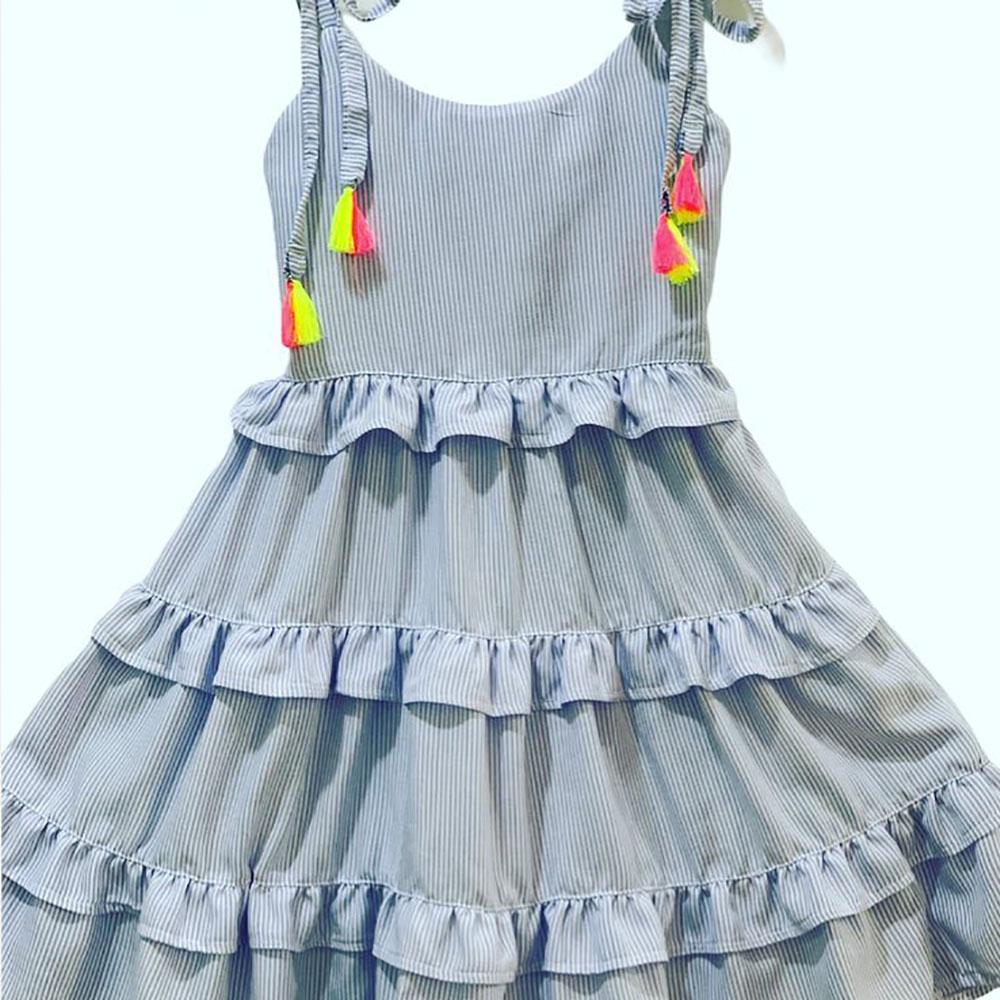 Vestido Menina Bia Folchetti Mariah Listrado 150
