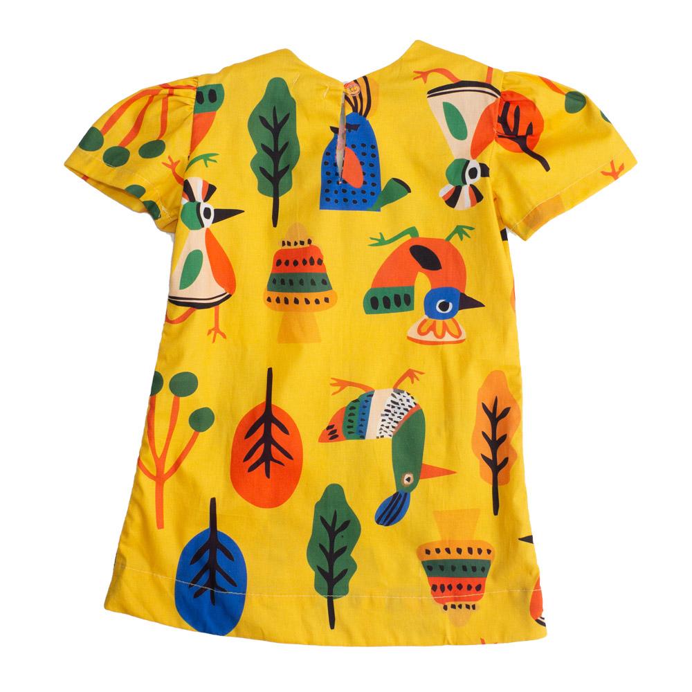 Vestido Chuá Birds Amarelo 2001