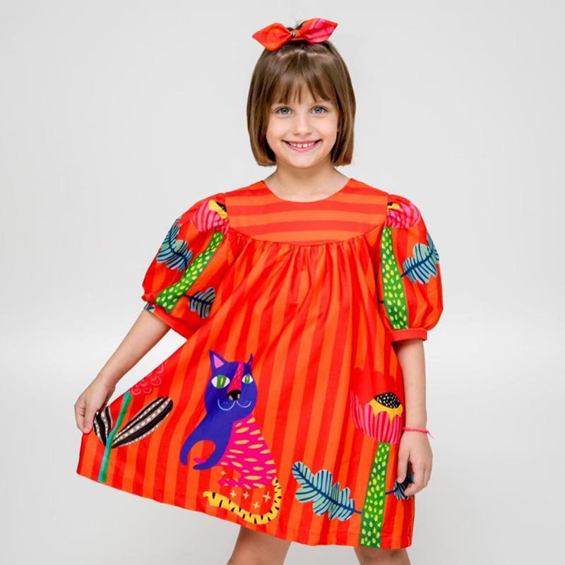 Vestido Menina Chuá Varanda Laranja 4001