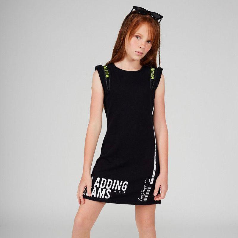 Vestido Menina Dimy Candy Preto com Zíper Ombro 81755