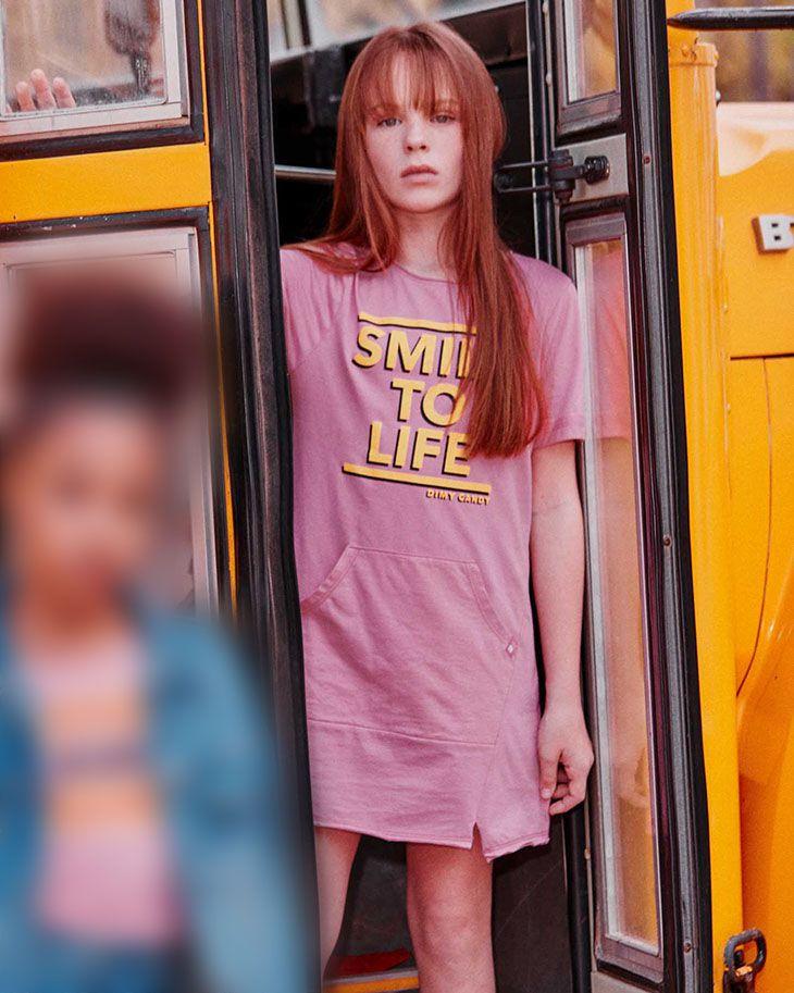 Vestido Menina Dimy Candy Rosa Chiclete Smile 81792