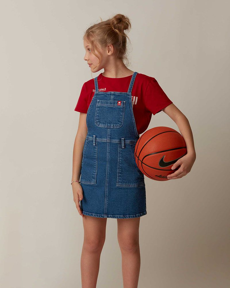 Vestido Menina Dimy Candy Salopete Jeans 81717