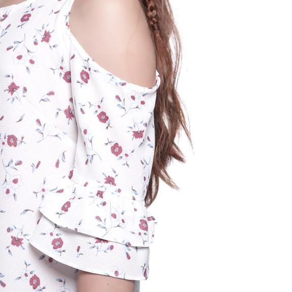 Vestido Menina Amofany Floral Branco 6001253