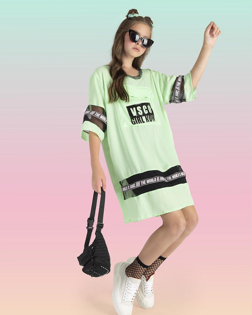Vestido Fruto Verde e Tela 42662050