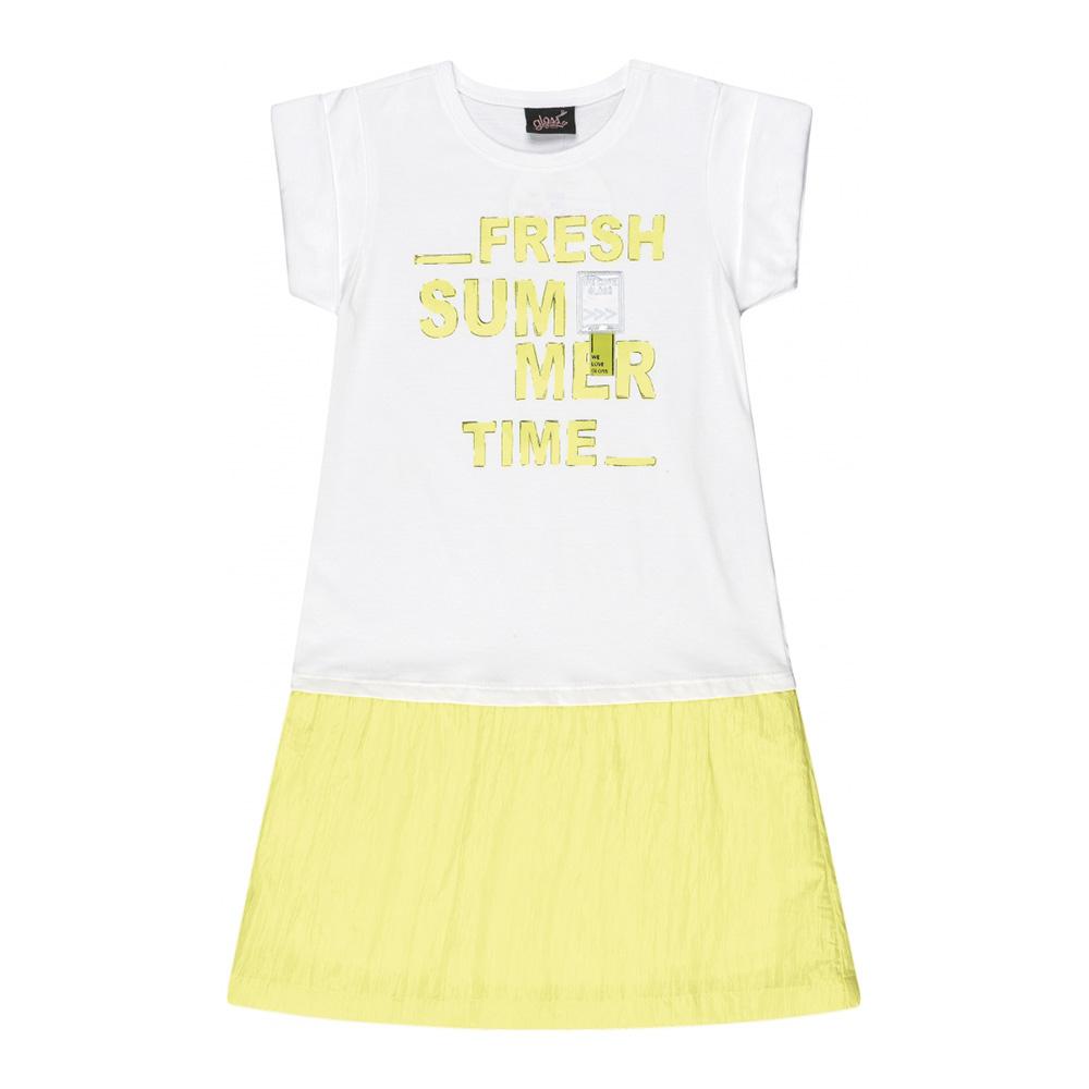 Vestido Menina Gloss Fresh Summer Branco 31176