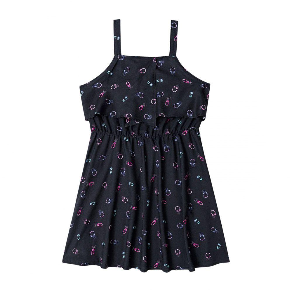 Vestido Gloss Vestido Alças em Tecido 30757