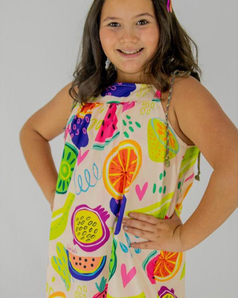 Vestido Menina L2M Kids Frutas 4092
