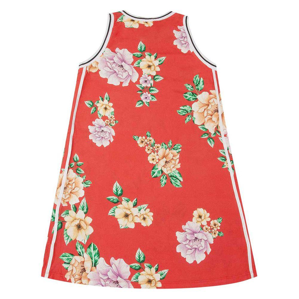 Vestido Menina Nuv On Floral Vermelho 10223