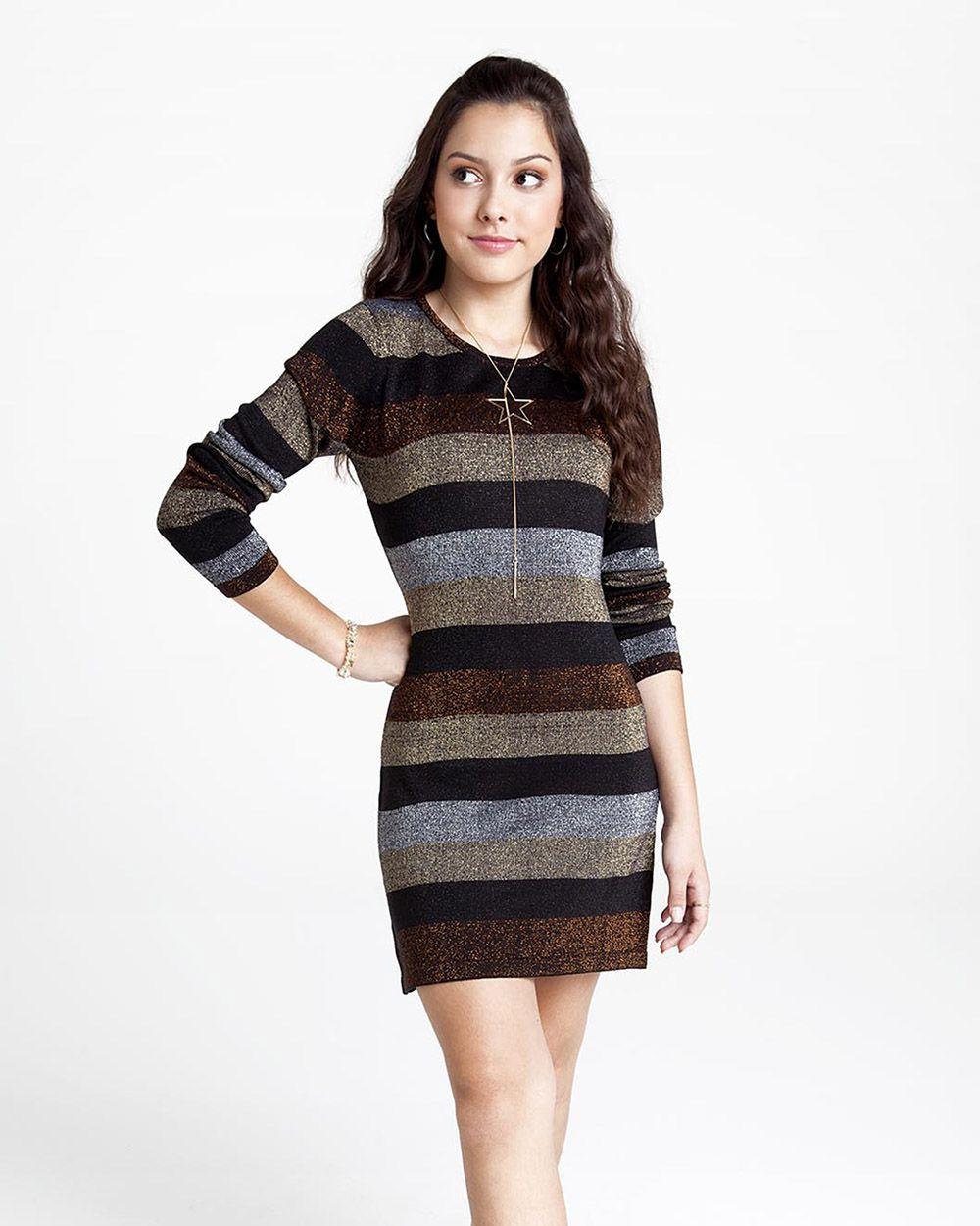 Vestido Menina Nuv On Lurex 60108