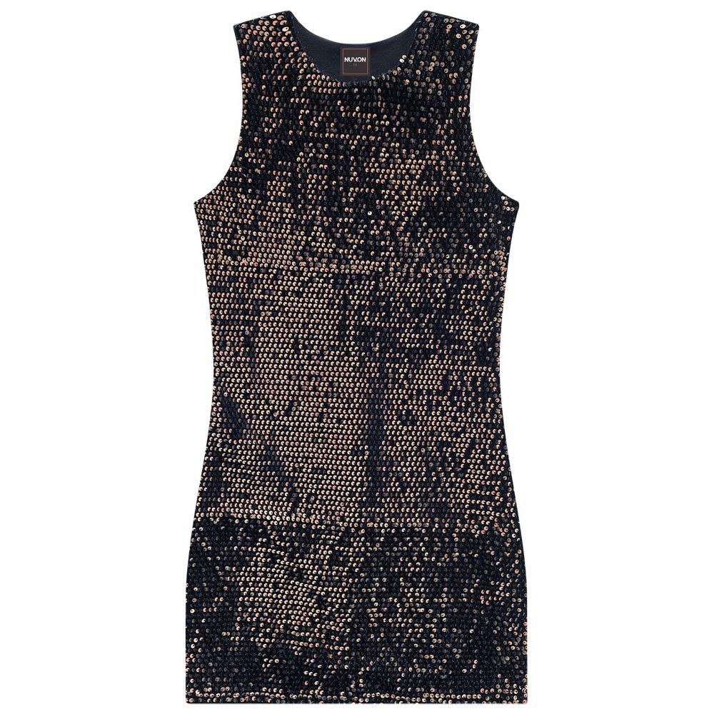Vestido Nuv On Paetê Preto 60240