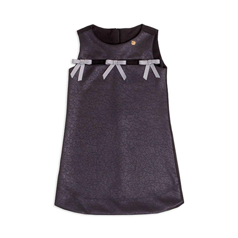 Vestido Menina Precoce Aplique Laços 1521