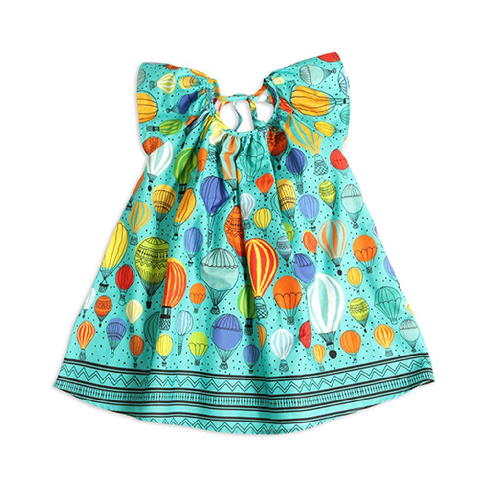 Vestido Menina Precoce Azul Balões 1457