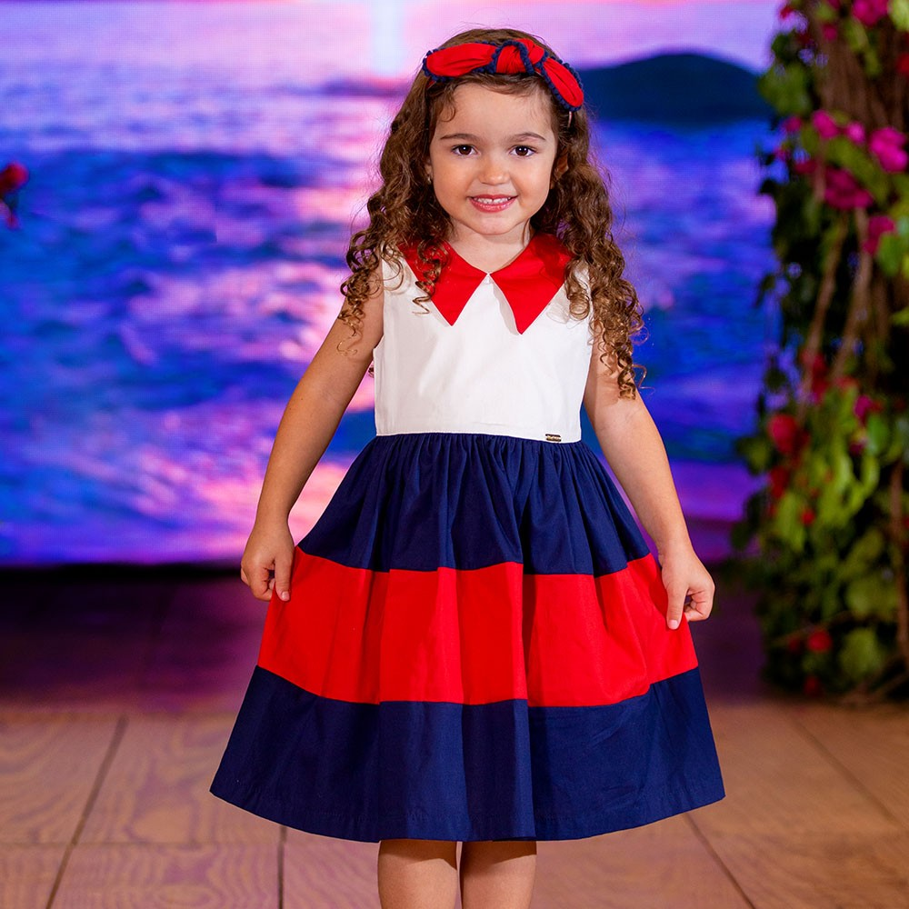 Vestido Menina Precoce Marinheiro 2437