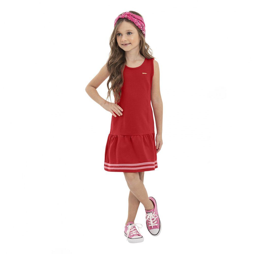 Vestido Menina Quimby em Piquet Vermelho 28127