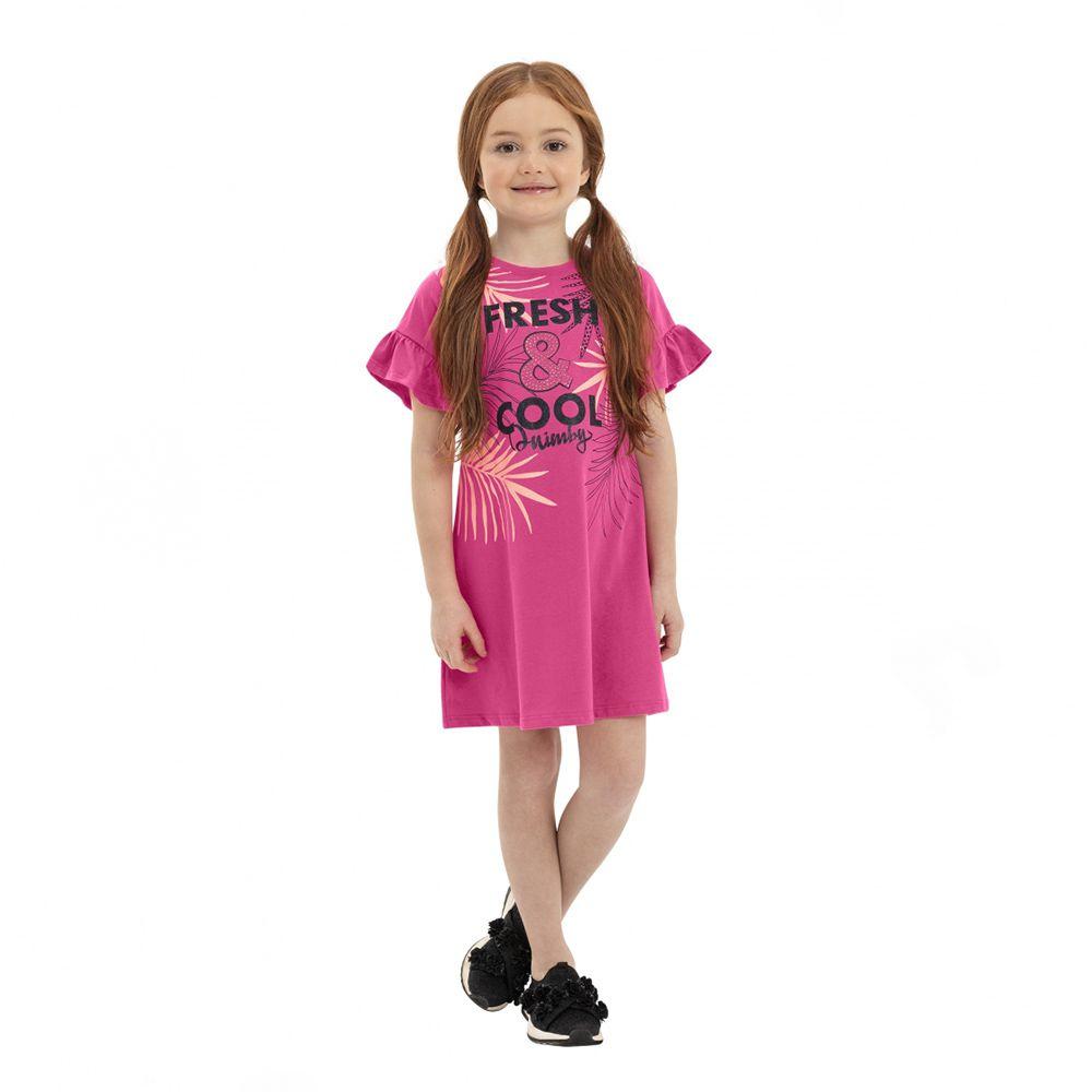 Vestido Menina Quimby Fresh e Cool Pink 28121