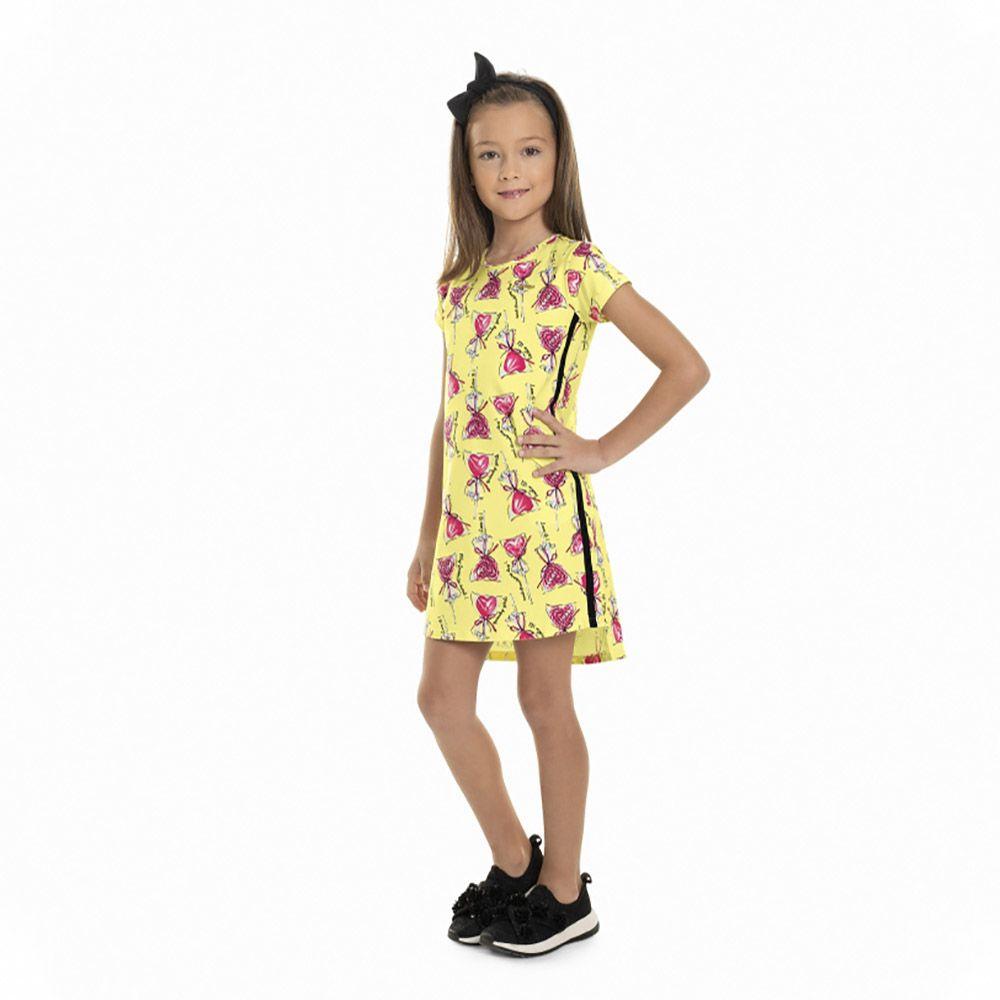Vestido Menina Quimby Pirulito Coração 28076