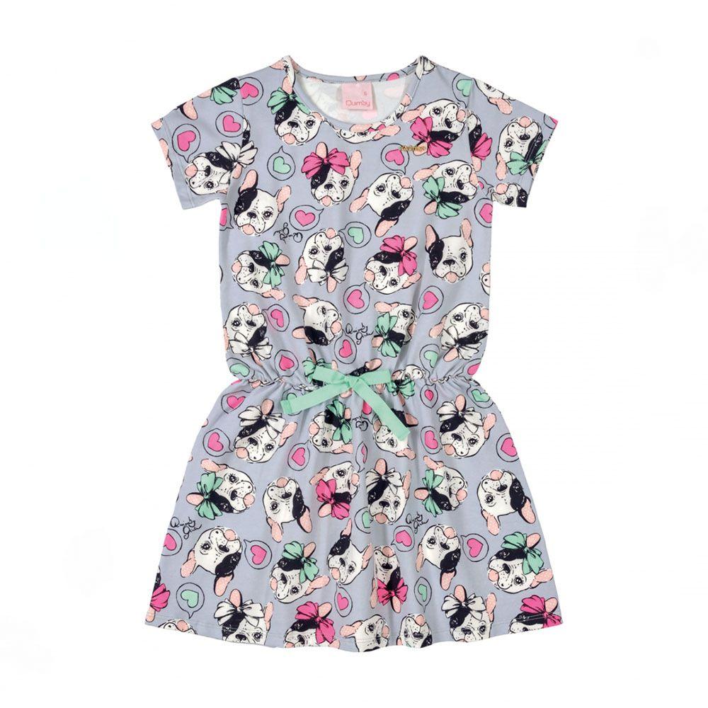Vestido Menina Quimby Pug 28117