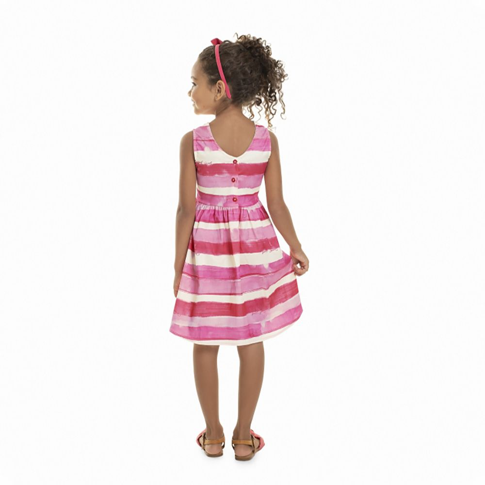 Vestido Menina Quimby Sem Manga Pink Paradise 28016