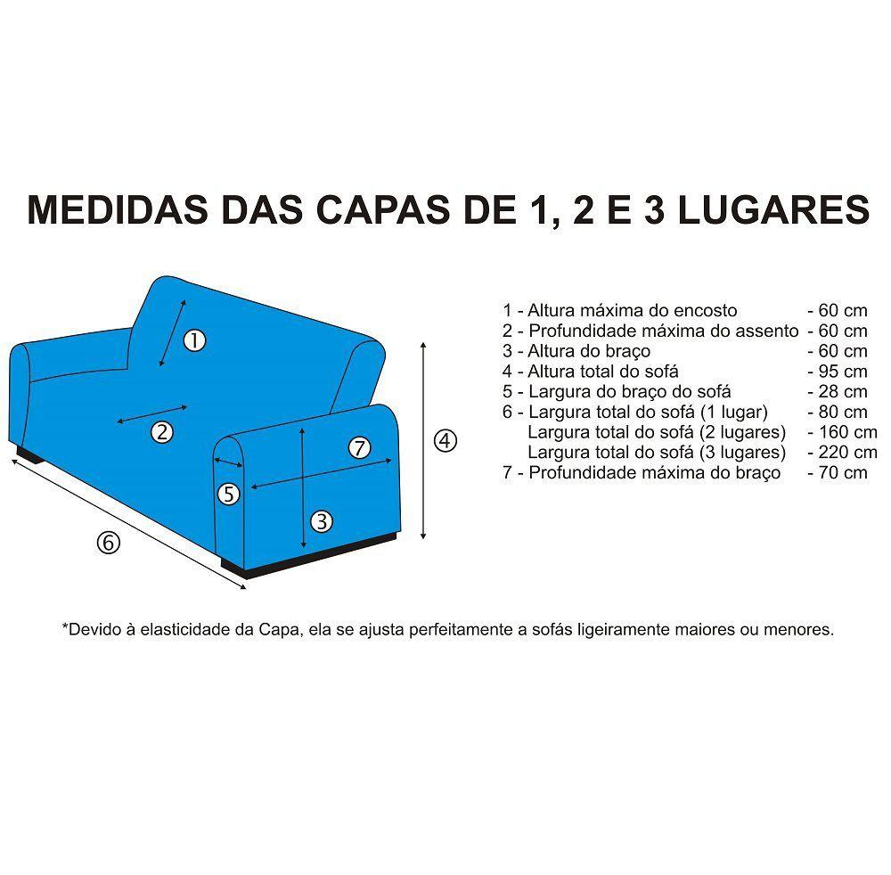 Capa de Sofá 2 Lugares em Malha Dupla - Azul Marinho