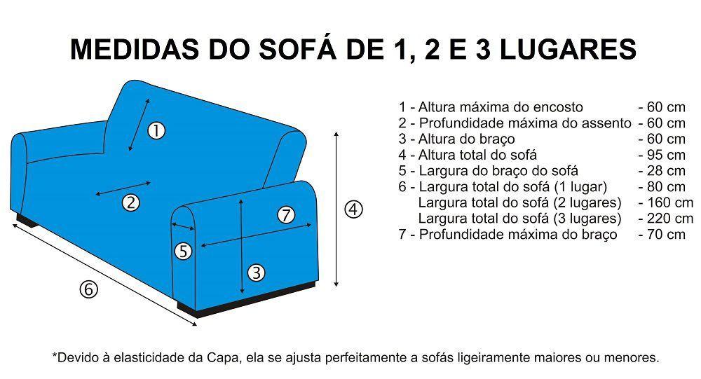 Capa de Sofá Avulsa 1 Lugar em Malha Dupla - Tabaco