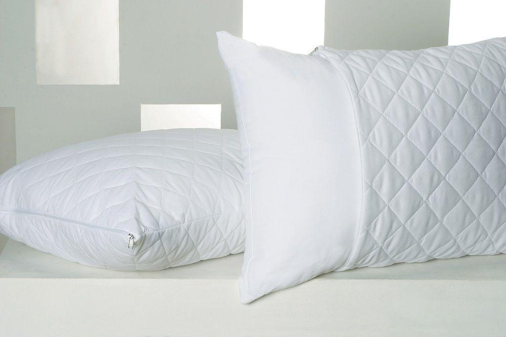 Capa Protetora de Travesseiro Impermeável Matelado com ziper