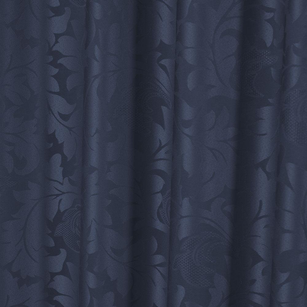 Cortina para trilho Tradicional 2,00 x 2,30m Roma Jackard Palitada - Azul Marinho