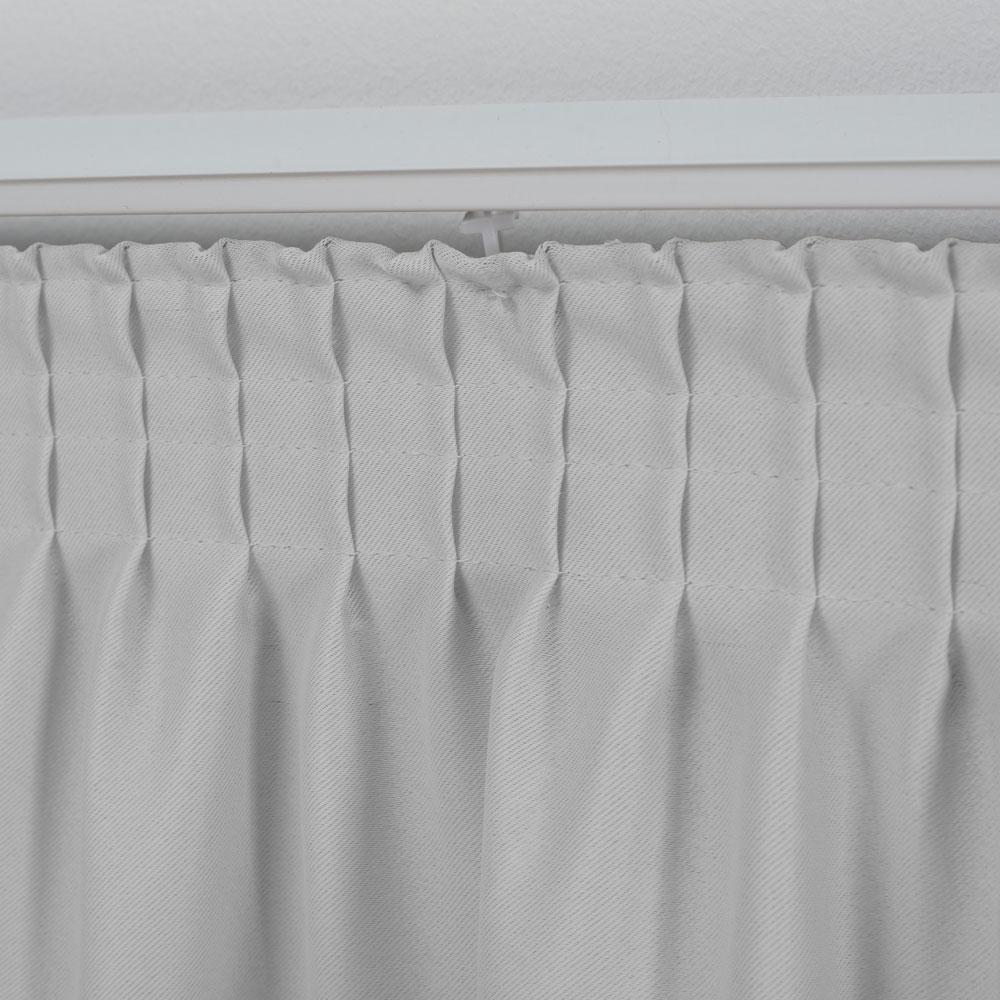 Cortina para Trilho Suisso 3,00 x 2,60m Marselha Voil e Blackout - branco