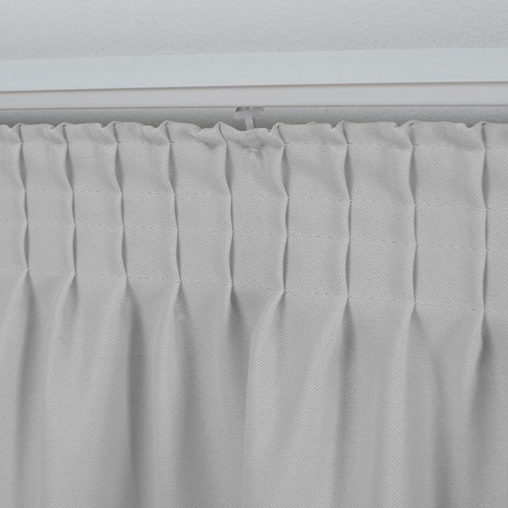 Cortina para Trilho Tradicional 2,00 x 1,80m Nantes Tecido Blackout - branco