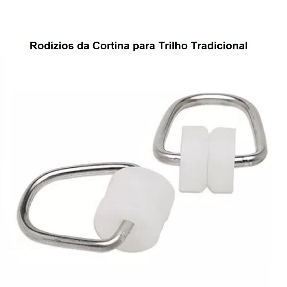 Cortina para Trilho Tradicional 4,00 x 2,60m Marselha Voil e Blackout - branco