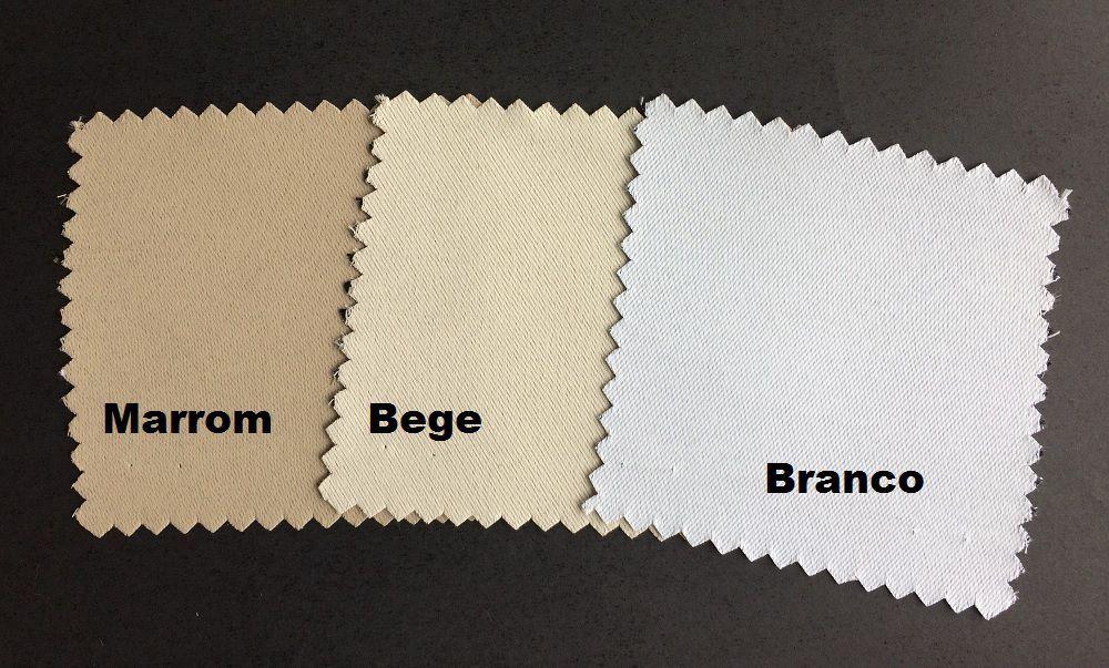 Cortina para varão 2,00 x 1,80m Proença Tecido Blackout - Branco