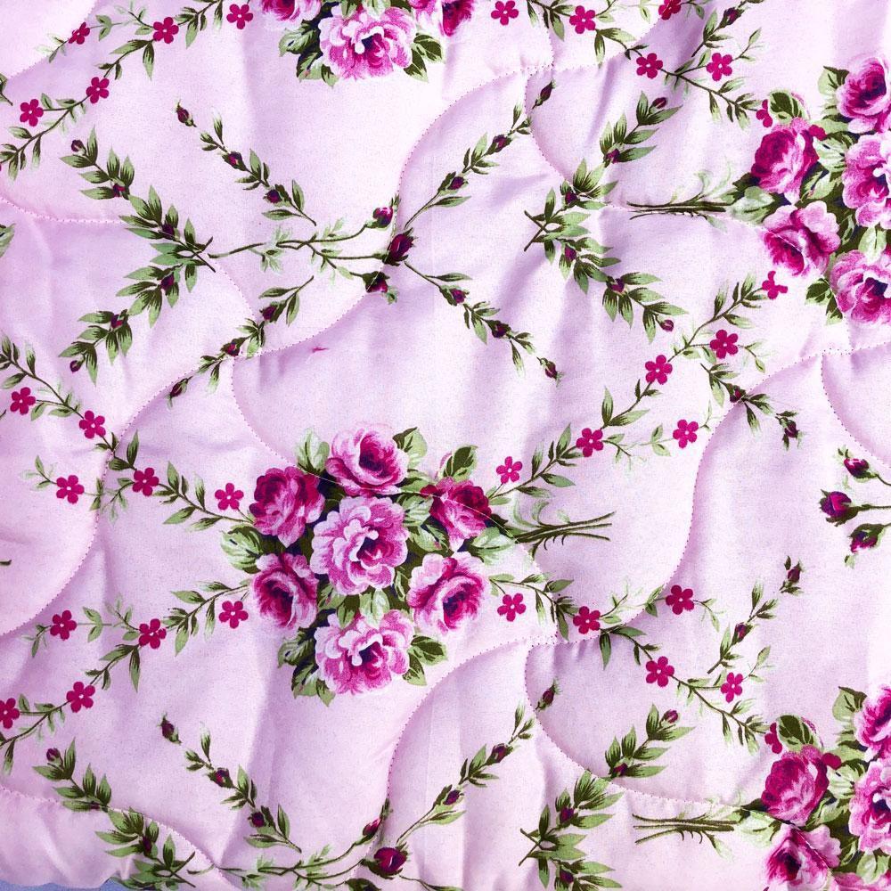 Edredom Casal Dupla Face Chamego - Floral Rosa
