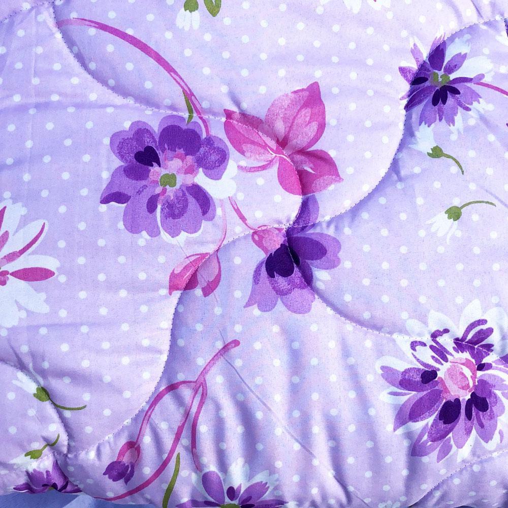 Edredom Solteiro Dupla Face Chamego - Floral Lilás