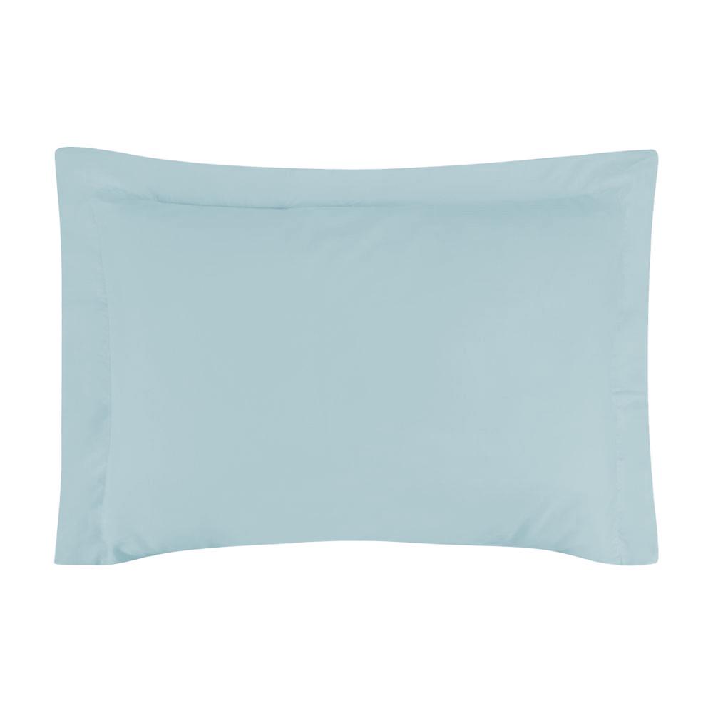 Fronha Avulsa 50 x 70 cm Percal 150 Fios 100% Algodão 3 Abas - Azul