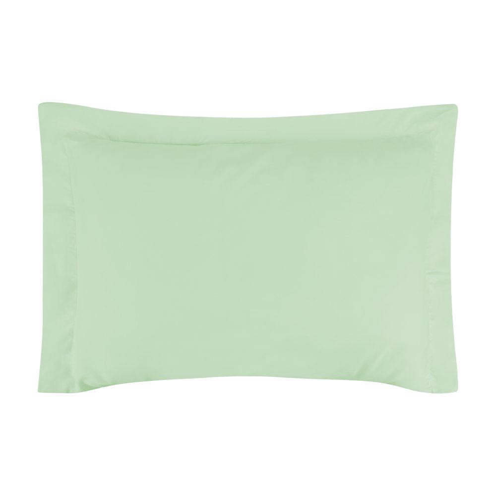 Fronha Avulsa 50 x 70 cm Percal 150 Fios 100% Algodão 3 Abas - Verde