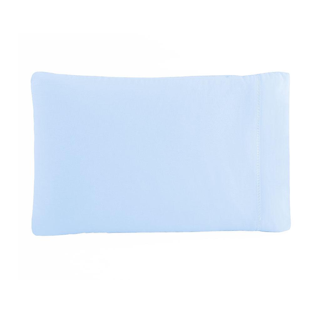 Fronha Avulsa 50 x 70 cm Percal 150 Fios 100% Algodão Ponto Palito - Azul