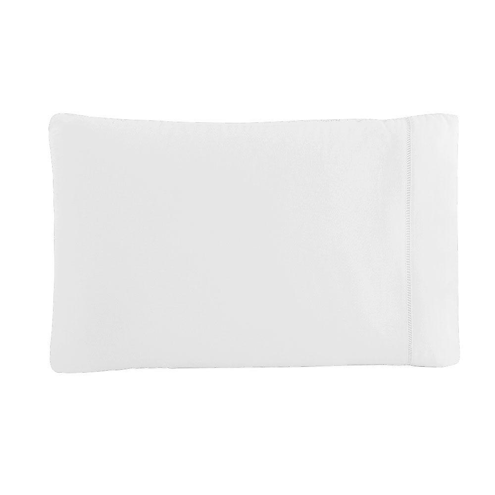 Fronha Avulsa 50 x 70 cm Percal 150 Fios 100% Algodão Ponto Palito - Branco