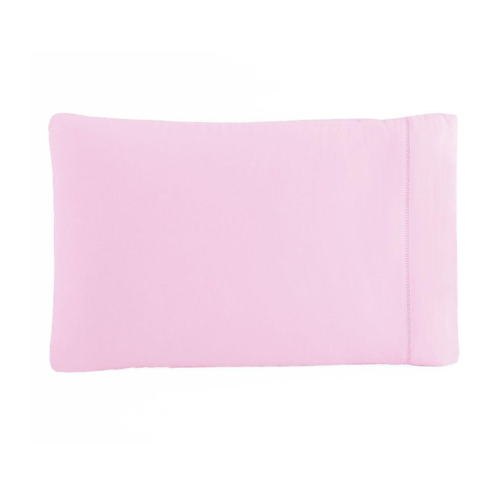 Fronha Avulsa 50 x 70 cm Percal 150 Fios 100% Algodão Ponto Palito - Rosa