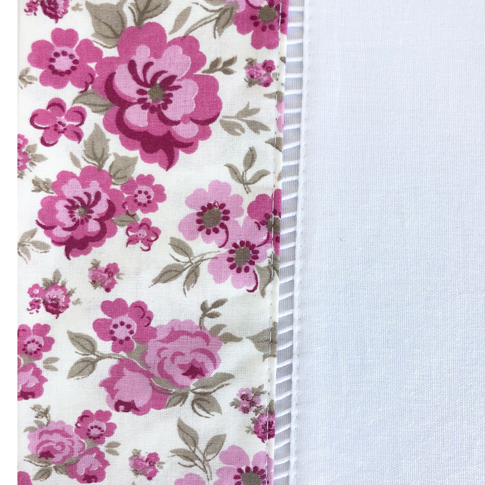 Jogo de Cama Solteiro Percal 150 fios 100% Algodão Ponto Palito 3 peças - Floral Pink/Branco